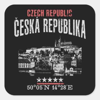 Czech Republic Square Sticker