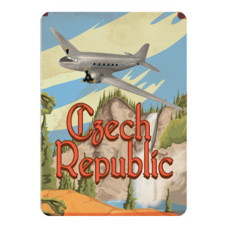 Czech Republic Vintage Travel Poster Invitations