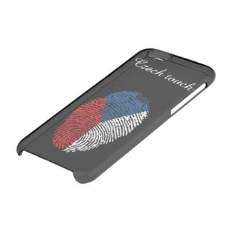 Czech touch fingerprint flag clear iPhone 6/6S case