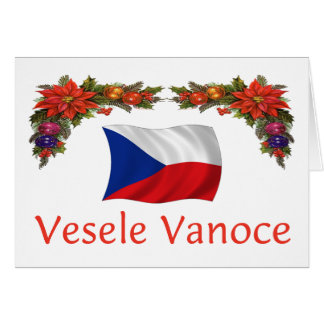 Czech Vesele Vanoce (Merry Christmas) Greeting Card