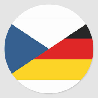 czechgermany classic round sticker