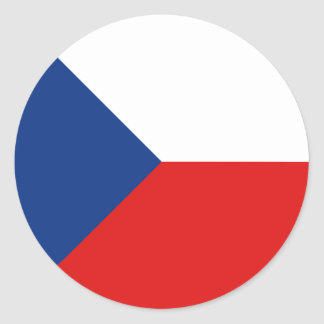 Czechia Fisheye Flag Sticker