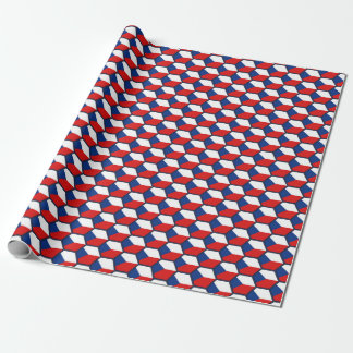 Czechia Flag Honeycomb Wrapping Paper