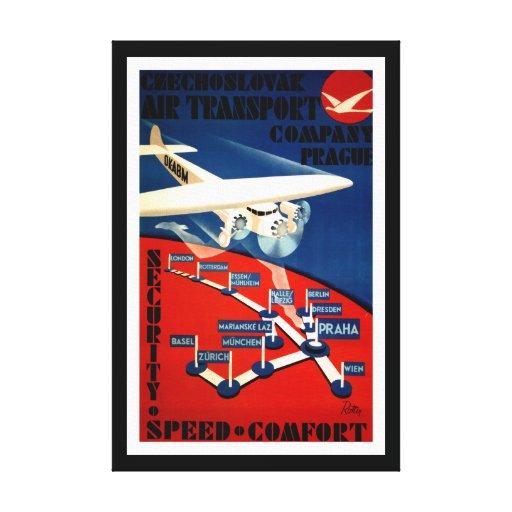 Czechoslovak Air Transport - L Stretched Canvas Prints