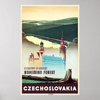 Czechoslovakia Bohemian Forest Print Poster