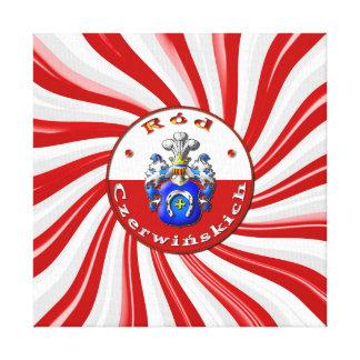 Czerwińskich Family Crest Premium Wrapped Canvas