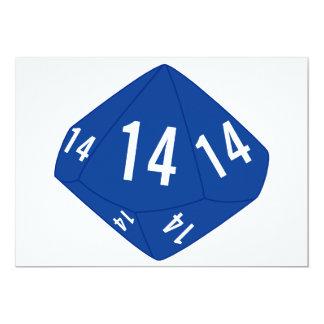 D10 Table Number Card (Dark Blue Outline)