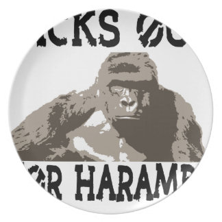 D1cks for Out Harambe Dinner Plates