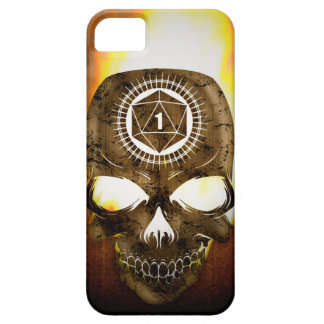 d20 Critical Fail Death Skull Barely There iPhone 5 Case