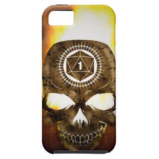 d20 Critical Fail Death Skull iPhone 5 Case