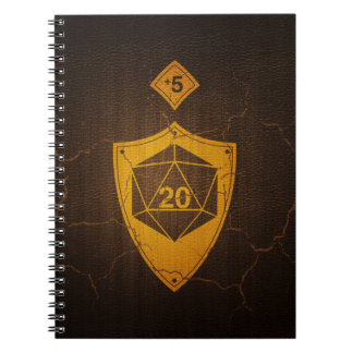 d20 Critical Save +5 Faux Leather Notebooks