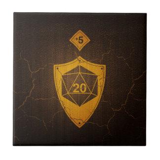 d20 Critical Save +5 Faux Leather Tile