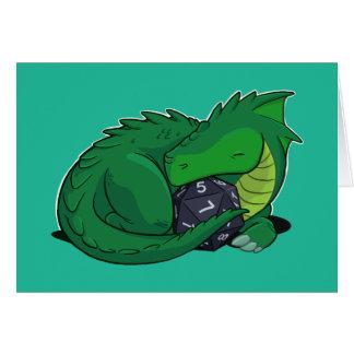 D20 Green Dragon Card