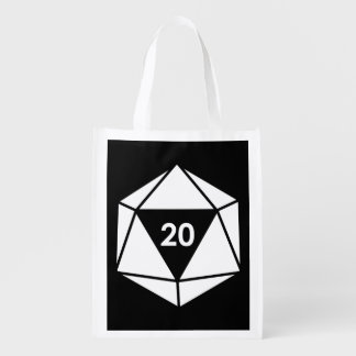 d20 reusable grocery bag