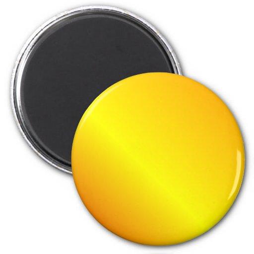 D2 Linear Gradient - Orange, Yellow, Red Fridge Magnets