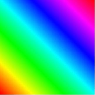 D2 Linear Gradient - Rainbow Photo Cut Out