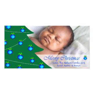 D2 Tree Decor MC-Blue Holidays Photo Cards