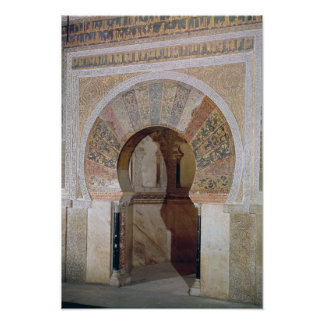 d4:Mezquita: Entrance to the Mihrab, c.786 Poster
