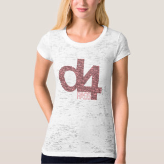 D4 Rags - Hearts (Hot Pink on White) T-Shirt
