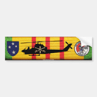 D/1/1st Cav 23rd Inf Div AH-1G Cobra on VSM Ribbon Bumper Sticker