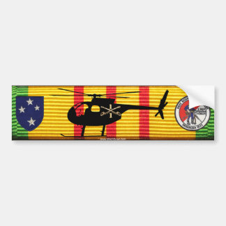 D/1/1st Cav 23rd Inf Div OH-6 Loach on VSM Ribbon Bumper Sticker