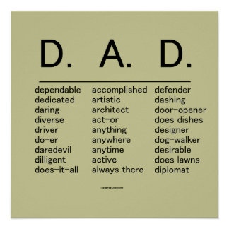 D.A.D. Father's Day Poster