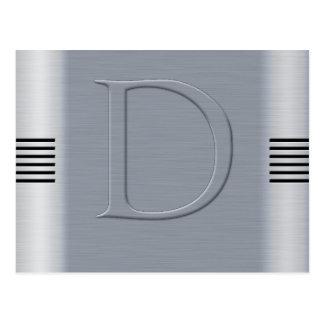 D aluminium brossé carte postale