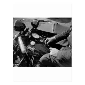 D.C. Motorcycle Cop, 1930s Postcard