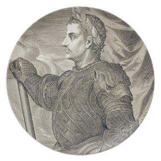 D. Claudius Caesar Emperor of Rome from 41 - 54 AD Plates