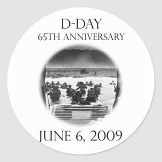 D-Day 65th Anniversary Remembrance Round Sticker