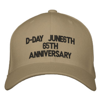 D-Day June6th65th Anniversary Embroidered Cap