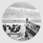 D-Day Landings Assorted Images Round Sticker