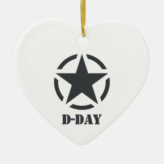 D-Day Normandy - Day-J - Normandy Ceramic Heart Decoration