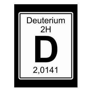 D - Deuterium Postcard