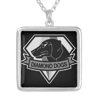 D-Dog Gray Silver Plated Necklace