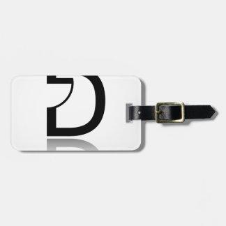 D for design bag tag