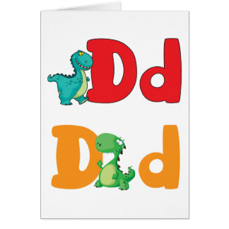 D For Dinosaur Greeting Cards
