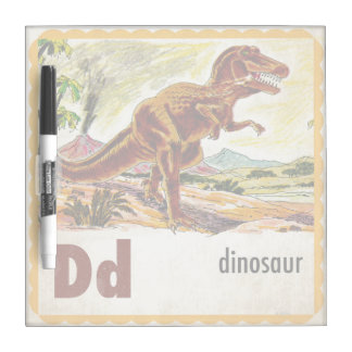 D is for Dinosaur Dry Erase Whiteboards