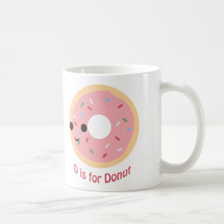 D is for Donut Coffee Mug