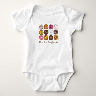 D is for Doughnuts Donut Dozen Breakfast Food Baby Bodysuit