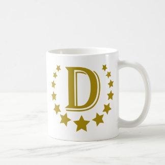D-Letter-Stars-Crown- Coffee Mug