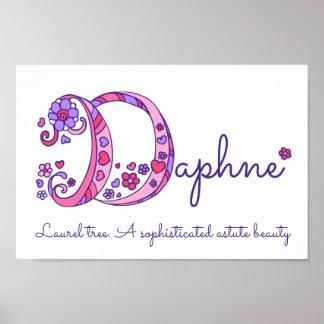 D monogram art Daphne girls name meaning poster