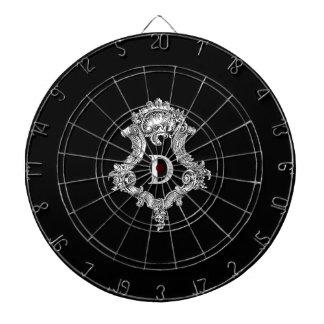 D Monogram Initial Dart Boards
