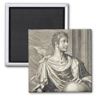 D. Octavius Augustus (63 BC - 14 AD) Emperor of Ro Square Magnet