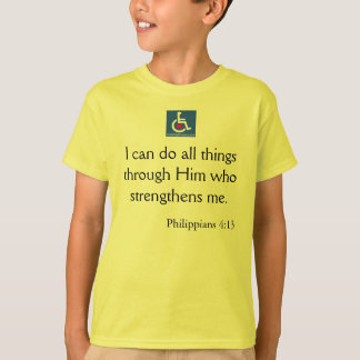 D/R - Philippians 4:13 Quote T-Shirt
