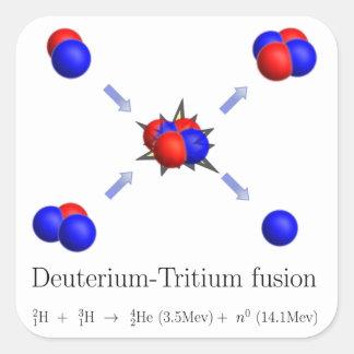 D-T fusion Square Sticker