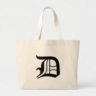 D-text Old English Jumbo Tote Bag