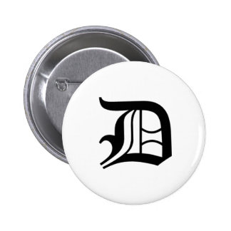 D-text Old English Pin