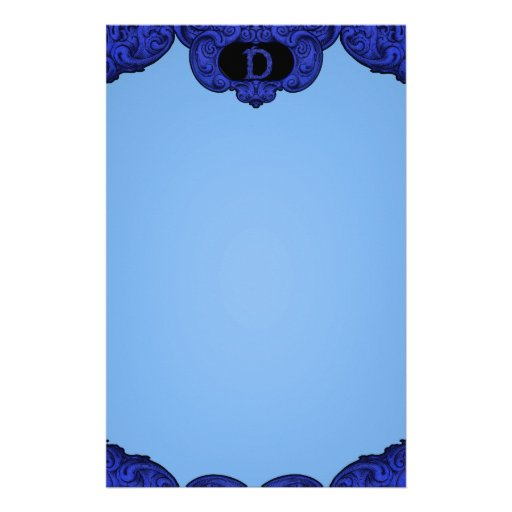 D - The Falck Alphabet (Blue) Stationery Paper