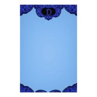 D - The Falck Alphabet (Blue) Stationery Design